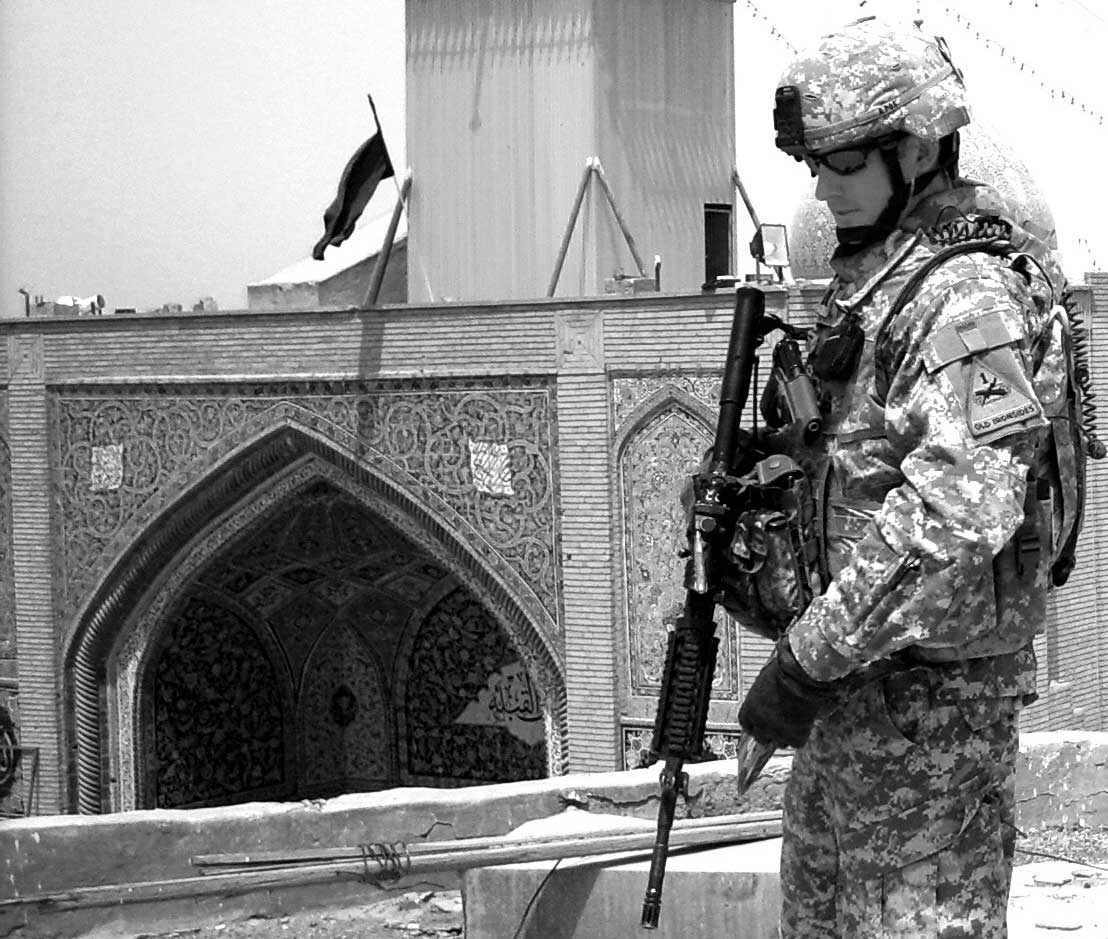 Photo: Captain Jason Wright, Aide-de-Camp, Samarra, Iraq (2008)